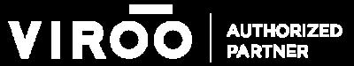 logo VIROO authorized partner blanco virtual4 realidad virtual